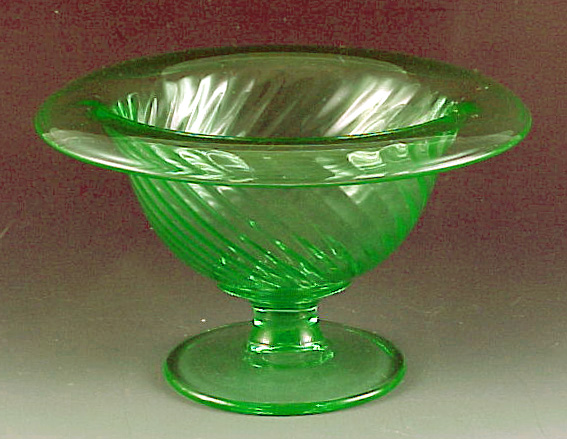 Twisted Optic Green Footed Mayo Bowl