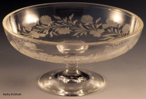 Clover and Blossom Cut Crystal Comport:  Would You Use This for Candy or Cheese?