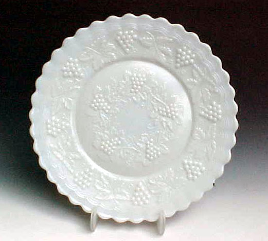 Imperial Vintage Milk Glass Plate