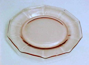 pink saturday cambridge glass decagon sherbet liner. Black Bedroom Furniture Sets. Home Design Ideas