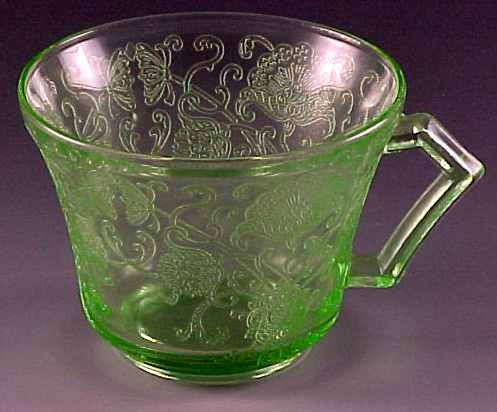 Tablescape Thursday Florentine Poppy Green Depression Glass Mesmerizing Green Depression Glass Patterns