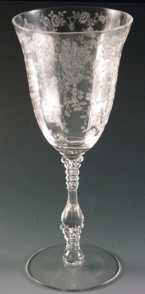 fancy friday rose point etched vintage goblets with karen. Black Bedroom Furniture Sets. Home Design Ideas