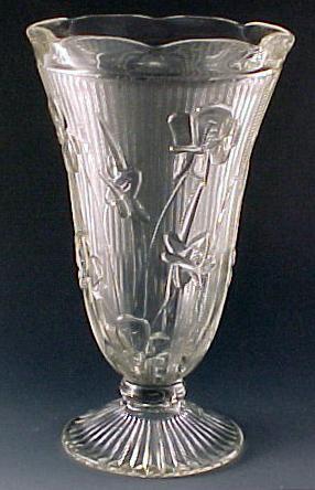 Iris and Herringbone Depression Glass on Parade